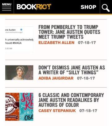 Jane Austen book riot