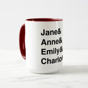 Austen and Brontes mug