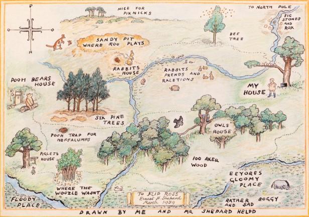 winnie the pooh map